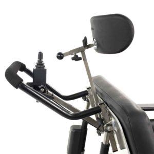 Leo350 XXL E-Rollstuhl mit zusätzlicher Steuerung für Begleitpersonen